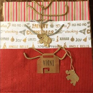 Other - Three Large hand crafted in India Christmas bags